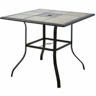 Counter Height Patio Dining Table (Brown) - New!