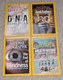 National Geographic Magazine Lot of 4 2016 June August September October
