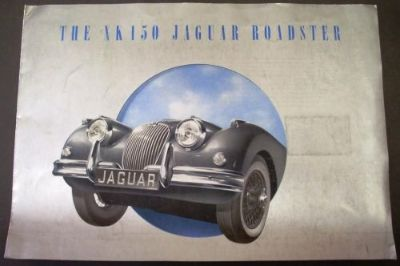 Buy 1958 Jaguar XK150 Roadster Dealer Sales Brochure S-Type Original Large Rare! motorcycle in Holts Summit, Missouri, United States