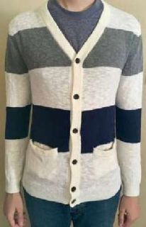 Genuine A ropostale Mens Size Small Striped Cardigan Sweater