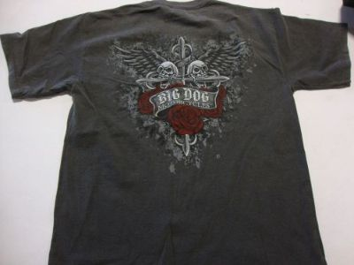 Purchase BIG DOG MOTORCYCLES 4XL CROSS BITTEN SHIRT SHORT SLEEVE FRONT/BACK DESIGN motorcycle in Lyons, Kansas, United States, for US $19.99