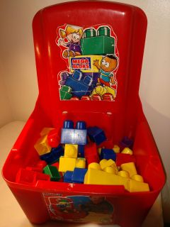Mega blocks and container with NO lid