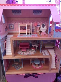 Three story kidkraft chelsea doll house with furniture