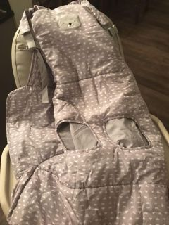 Grocery cart seat cover