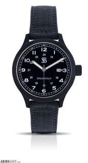 For Sale: Smith & Bradley Springfield PVD Watch Black Cordura Strap BSSPVDBLK
