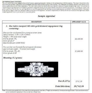 $50,  Jewelry Insurance Appraisals