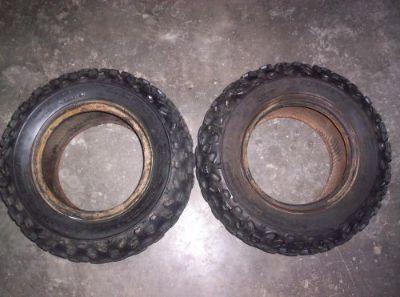 Find 88 Suzuki LT 230 LT230 Quadrunner Front Tires 21x7-10 DUNLOP KT 686 9409 motorcycle in Farmersburg, Indiana, United States