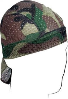 Purchase Zan Headgear Vented Flydanna Headwraps Woodland Camo motorcycle in Holland, Michigan, United States, for US $9.54
