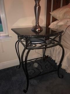 Beautiful Metal/Marble Side Bed Table