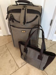 Chaps Luggage And Tote Set