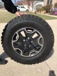 2016 Jeep Wrangler Rubicon Hard Rock Edition tires and wheels.
