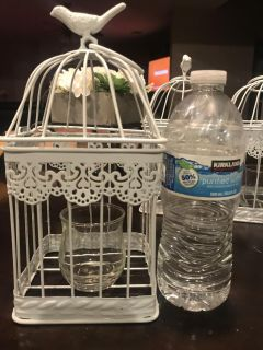 Bird cages with a votive holder