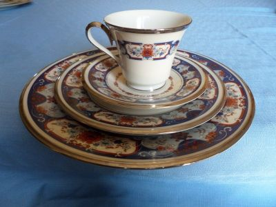Lenox China Interlude platimum trim