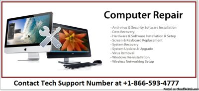 Free Diagnostic test and Low Cost Computer Repair Service +1-866-593