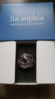 Lia Sophia garnet ring brand new with tag! Bought yesterday on here and to big