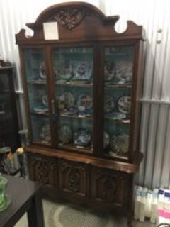 Oak Wood China Hutch