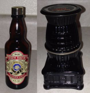 Avon 1979 Bath Brew Decanter & Avon 1970 Pot-Belly Stove