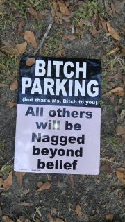 Personal Novelty Parking Sign