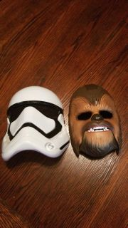 Chewbacca mask with sounds and storm tropper mask