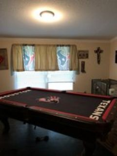 custom Houston Texans Pool Table