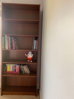 New wood bookcases with adjustable shelves