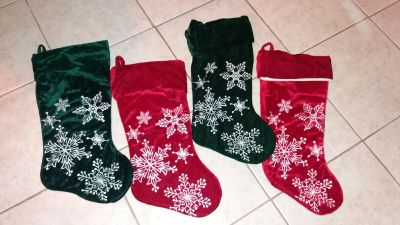 Set of 4 stockings excelent condition, pick up in Brazoria