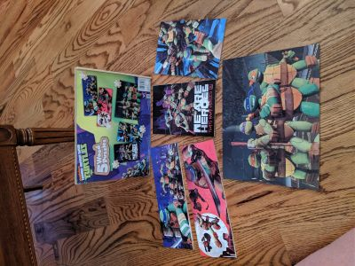 TMNT, Teenage Mutant Ninja Turtles 5 wooden puzzles in a box. Excellent condition, rarely played with