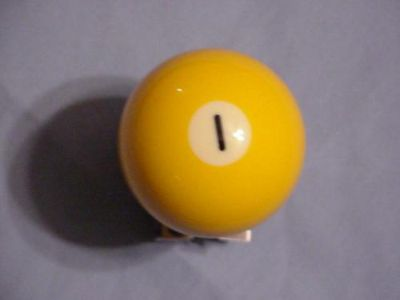 Sell POOL BALL / YELLOW -#1-SUICIDE KNOB motorcycle in Urbanna, Virginia, US, for US $18.00
