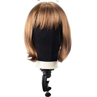 Poly Block Professional Mannequin Head to Display, Style & Dry Wig With Mount Hole, 25''