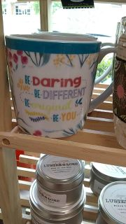 New with tags coffee cup.