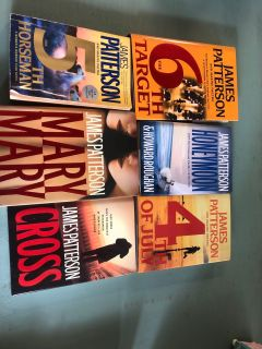 6 JAMES PATTERSON BOOKS!! All fo$5.00