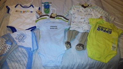 Baby Boy 0-3 month clothes, New with tags!