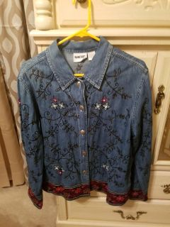 Beautiful Blue Jean Jacket in great condition. All Embroidery