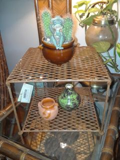 New Large Rustic Two Tier Display Table