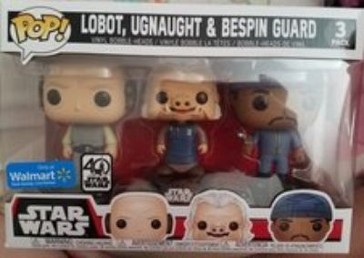 Star Wars Lobot, Ugnaught and Bespin Guard trio Funko Pop