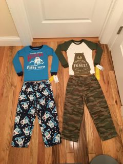 Carter s 2 Piece PJs. Tops are Thermals. Pants are Fleece. Size 5t. Brand New with Tags.