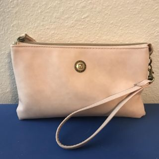 Stone Mountain Leather Clutch / Portable Charger