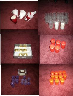 MANY NEW AND USED CANDLES, VOTIVES AND CANDLE HOLDERS
