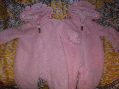 Snow suits newborn wore a couple times have 2 3.00 each read below
