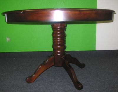 Wood round-top table