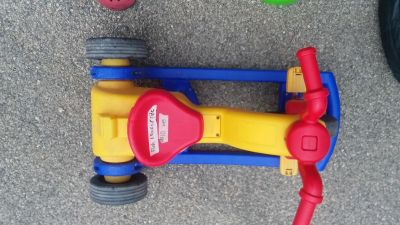 Push (adult) & rocker & pedal (child) tricycle