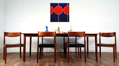Elegant Danish Modern MCM Teak Expansion DiningSet