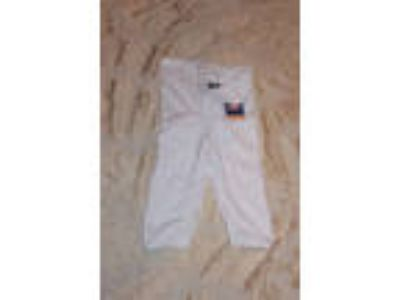 NWT Rawlings White Youth Size Small Tie Football Pants