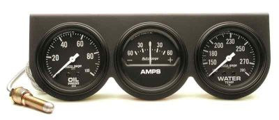 "Buy Auto Meter 2394 Three Gauge Console Black- for 2 5/8""Oil Press./Amp/Water Temp. motorcycle in Greenville, Wisconsin, US, for US $91.91"
