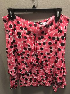 Cato Pink, black and white skirt, Size 14