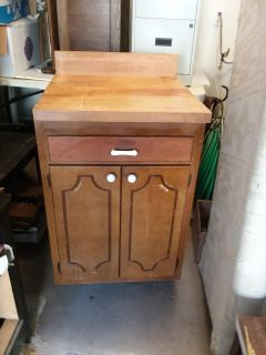 Butcher's block and cabinet