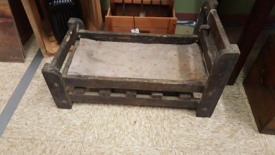 Old Wooden Doll Bed