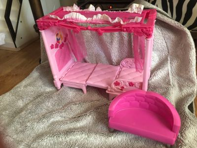 Convertible Barbie Canopy Bed to Chair with Couch