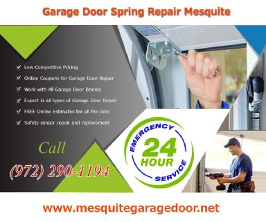 Broken Spring Replacement, Roll up door repair and installation Mesquite 75150, TX $25.95