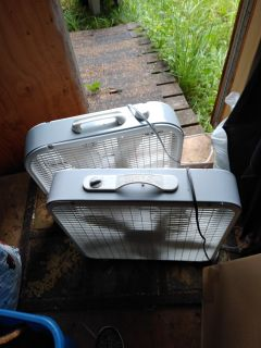 Two box fans